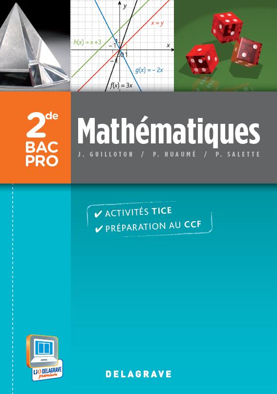 Math matiques 2de bac pro 2013 pochette l ve for Programme bac pro cuisine