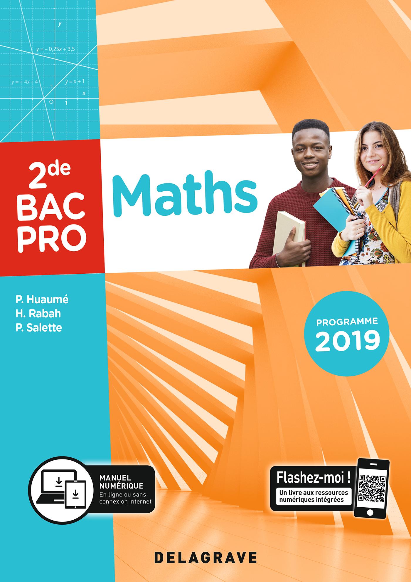 Maths 2de Bac Pro 2019 Pochette Eleve Editions Delagrave
