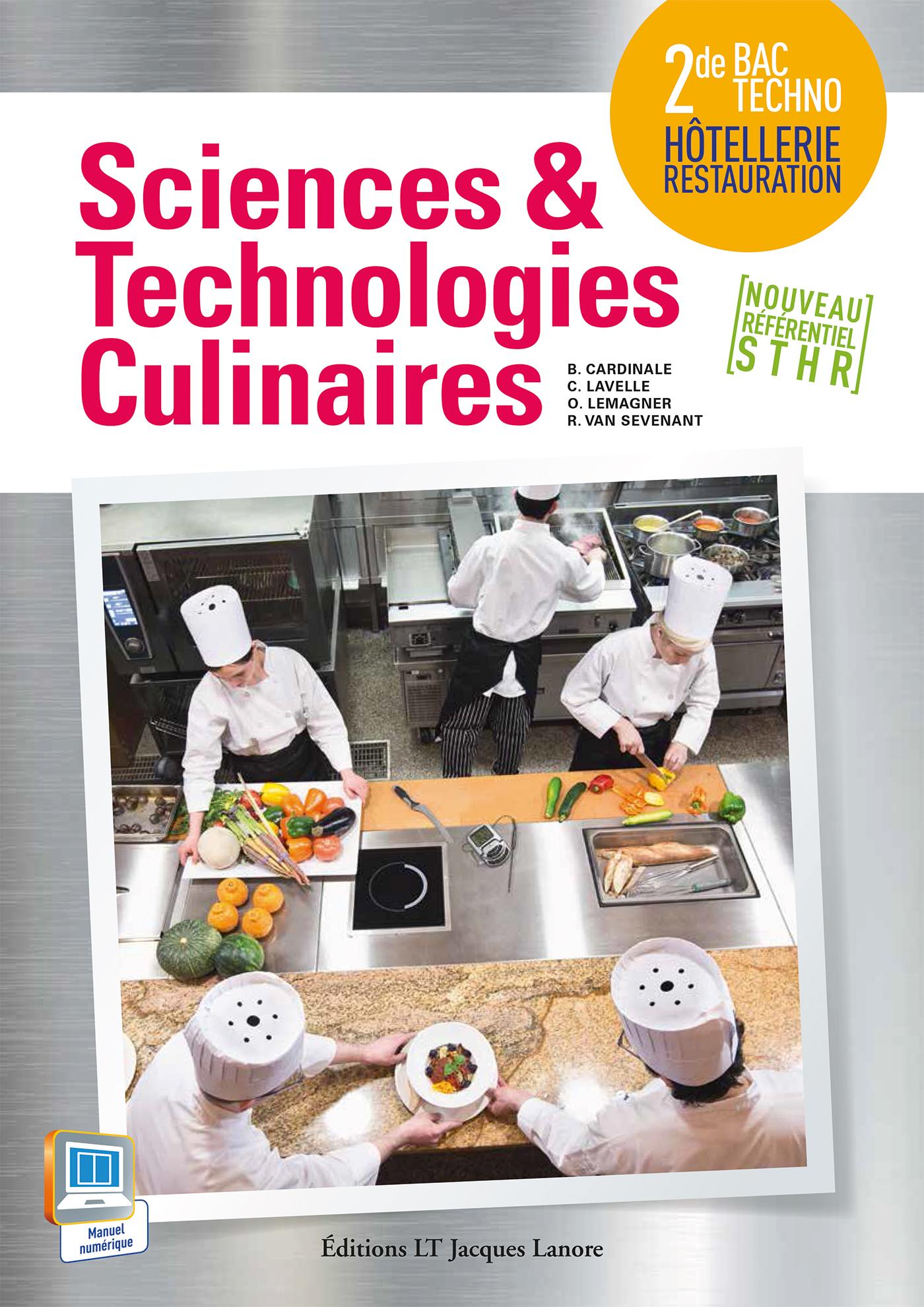 Sciences et technologies culinaires 2de bac techno sthr for Programme bac pro cuisine