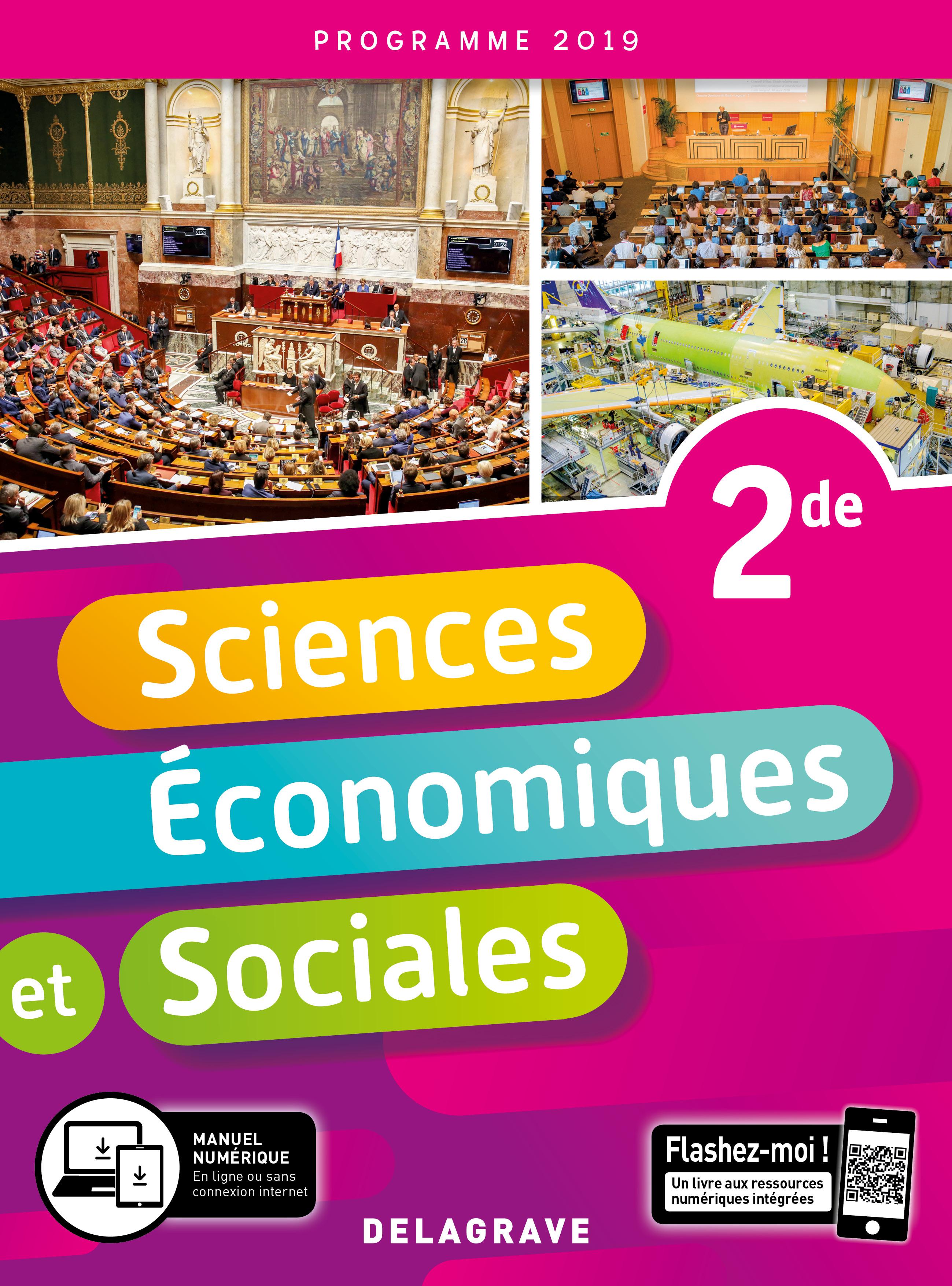 Sciences Economiques Et Sociales Ses 2de 2019 Pochette