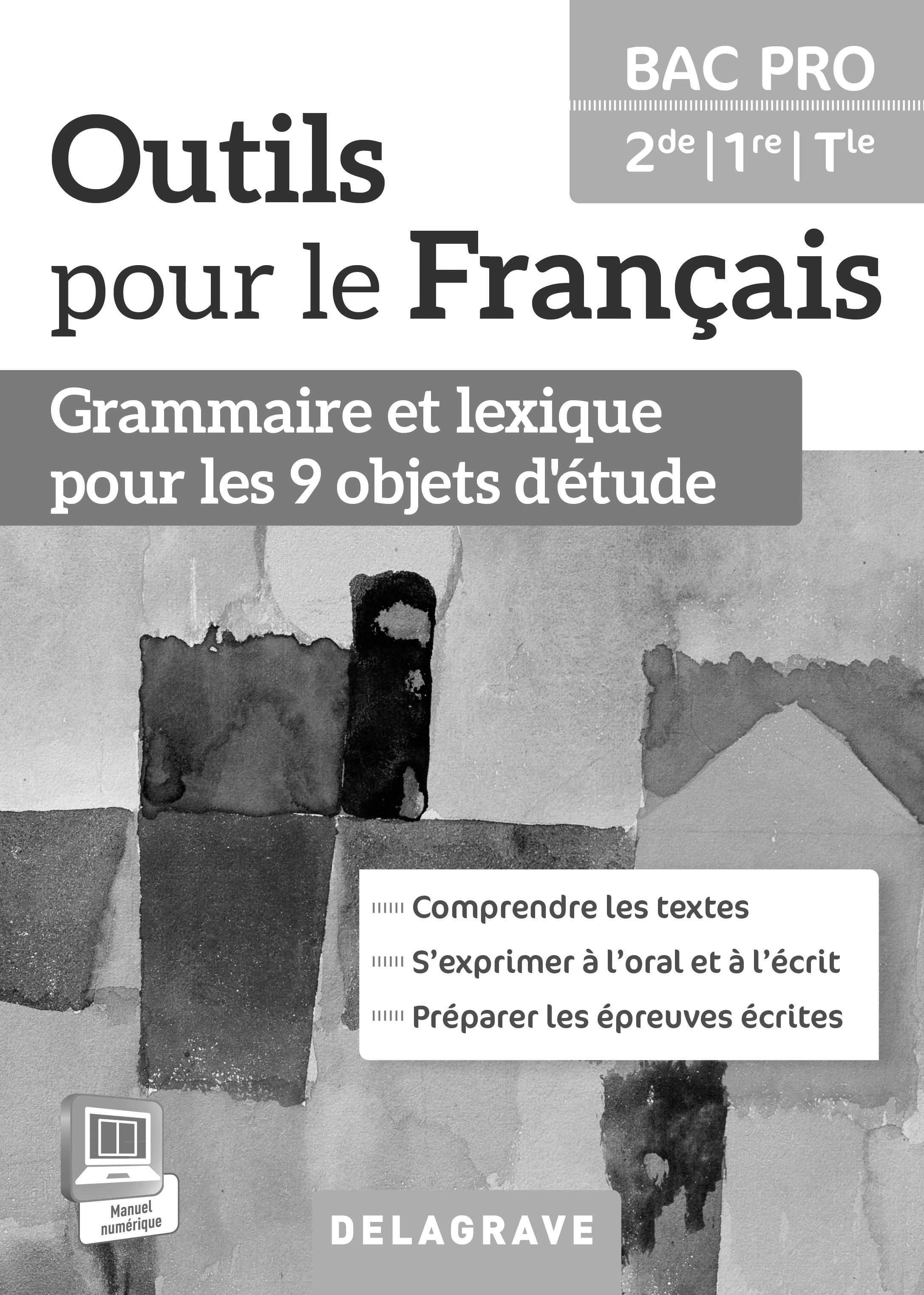 Outils Pour Le Francais 2de 1re Tle Bac Pro 2015 Livre