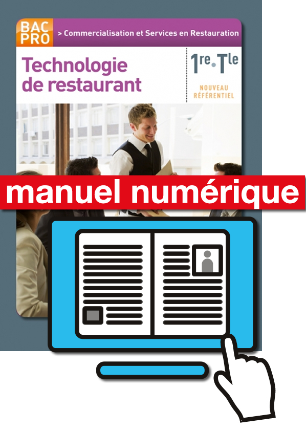 Technologie de restaurant 1re tle bac pro csr pochette for Technologie cuisine bac pro