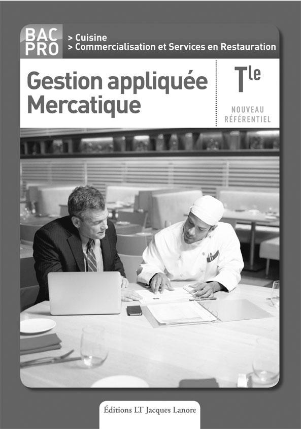 Gestion appliqu e mercatique tle bac pro cuisine et csr - Fiche bilan de competences bac pro cuisine ...