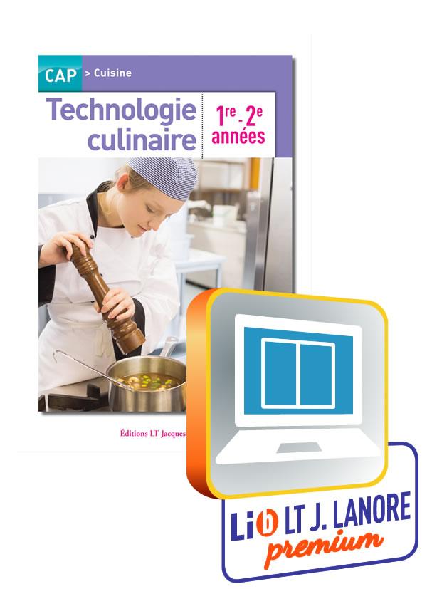 Technologie culinaire 1re et 2e ann es cap cuisine for Technologie cuisine bac pro