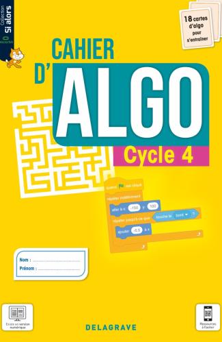 Cahier d'algo Cycle 4 (2021) - Cahier élève