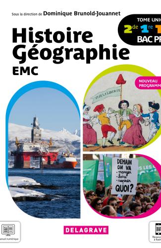 Histoire Géographie EMC 2de, 1re, Tle Bac Pro (2021) - Manuel élève
