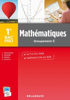 Mathématiques 1re Bac Pro Groupement C (2014) - Pochette élève
