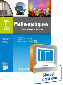 Mathématiques terminale Bac Pro Groupements A et B (2015) - Manuel interactif élève