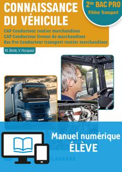 Connaissance du véhicule CAP et 2de Bac Pro (2017) - Pochette - Manuel numérique élève