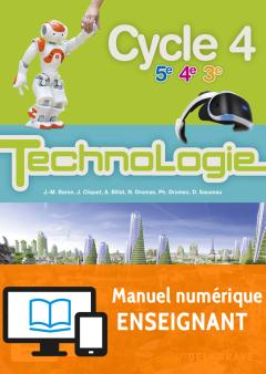 Bimanuel Technologie cycle 4 (2017) - Manuel numérique enseignant