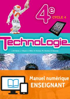 Bimanuel Technologie 4e (2017) - Manuel - Manuel numérique enseignant