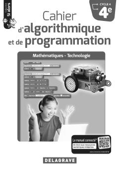 Cahier d'algorithmique et de programmation 4e (2018) - Livre du professeur