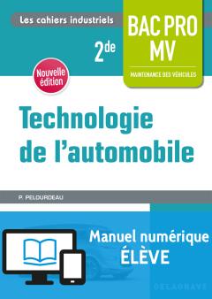 Technologie de l'automobile 2de Bac Pro MV (2018) - Pochette - Manuel numérique élève