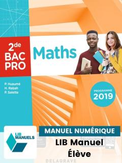 Maths 2de Bac Pro (2019) - Pochette - Manuel numérique élève