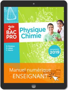 Physique - Chimie 2de Bac Pro (2019) - Pochette - Manuel numérique enseignant