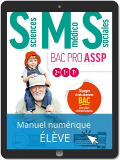 Sciences Médico-Sociales (SMS) 2de, 1re, Tle Bac Pro ASSP (2019) - Pochette - Manuel numérique élève