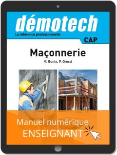 Démotech Maçonnerie CAP (2019) - Manuel numérique enseignant