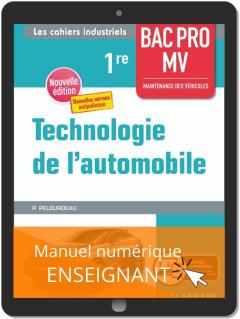 Technologie de l'automobile 1re Bac Pro MV (2020) - Pochette - Manuel numérique enseignant