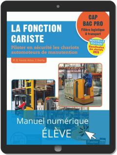 La fonction cariste CAP, Bac Pro (2020) - Pochette - Manuel numérique élève