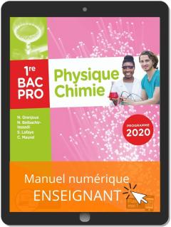 Physique - Chimie 1re Bac Pro (2020) - Pochette - Manuel numérique enseignant