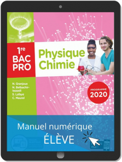Physique - Chimie 1re Bac Pro (2020) - Pochette - Manuel numérique élève