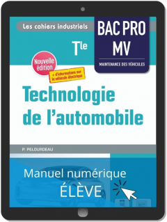 Technologie de l'automobile Tle Bac Pro MV (2021) - Pochette - Manuel numérique élève