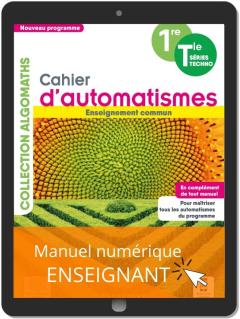 Cahier d'automatismes Maths 1re, Tle Technologiques Enseignement commun (2021) - Manuel numérique enseignant