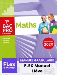 Mathématiques - Groupement C - 1re Bac Pro (Ed. num. 2021) - FLEX manuel numérique granulaire élève