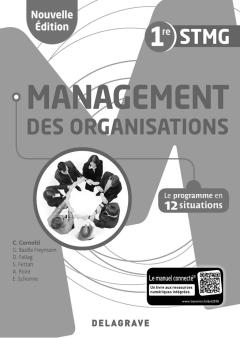 Management des organisations 1re STMG (2018) - Pochette - Livre du professeur