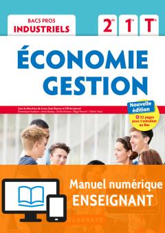 Économie-Gestion 2de, 1re, Tle Bac Pro Industriel (2018) - Pochette - Manuel numérique enseignant