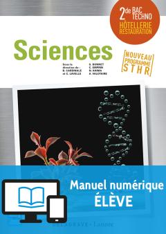 Sciences 2de Bac STHR (2017) - Pochette - Manuel numérique élève