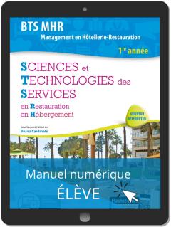 Sciences et Technologies des Services (STS) 1re année BTS MHR (2019) - Pochette - Manuel numérique élève