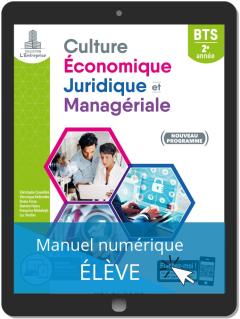 Culture économique, juridique et managériale (CEJM) 2e année BTS SAM, GPME, NDRC (2019) - Pochette - Manuel numérique élève