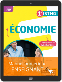 Économie 1re STMG (2019) - Pochette - Manuel numérique enseignant