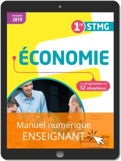 Économie 1re STMG (2019) - Pochette - Manuel numérique enseignant