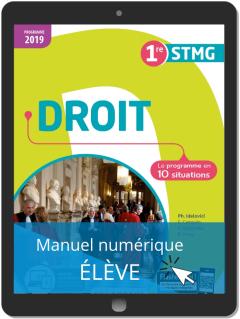Droit 1re STMG (2019) - Pochette - Manuel numérique élève