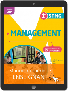 Management 1re STMG (2019) - Pochette - Manuel numérique enseignant