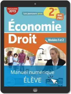 Économie-Droit 2de Bac Pro (2019) - Pochette - Manuel numérique élève