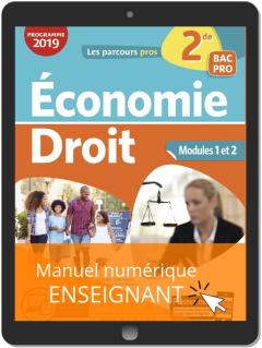 Économie-Droit 2de Bac Pro (2019) - Pochette - Manuel numérique enseignant