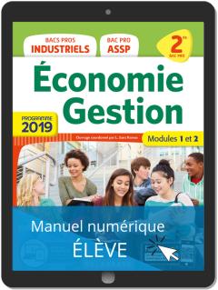 Économie-Gestion 2de Bac Pro (2019) - Pochette - Manuel numérique élève