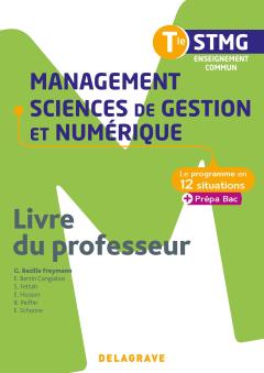 Management, sciences de gestion et numérique Tle STMG (2020) - Livre du professeur pochette