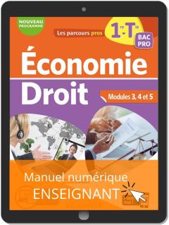 Économie-Droit 1re, Tle Bac Pro (2020) - Pochette - Manuel numérique enseignant