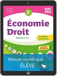 Économie-Droit 2de Bac Pro (2020) - Pochette - Manuel numérique élève
