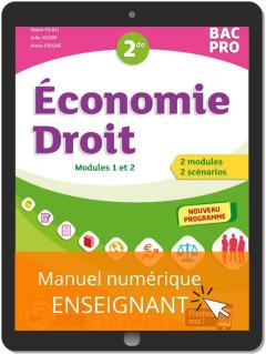 Économie-Droit 2de Bac Pro (2020) - Pochette - Manuel numérique enseignant