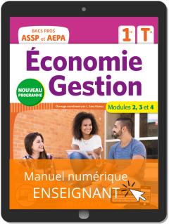 Économie-Gestion 1re, Tle Bac Pro ASSP et AEPA (2020) - Pochette - Manuel numérique enseignant