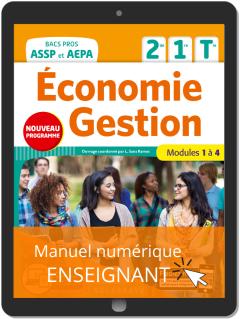 Économie-Gestion 2de, 1re, Tle Bac Pro ASSP et AEPA (2020) - Pochette - Manuel numérique enseignant