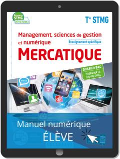 Management, Sciences de gestion et numérique - Mercatique enseignement spécifique Tle STMG (2020) - Pochette - Manuel numérique élève