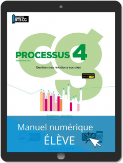 Processus 4 - Gestion des relations sociales BTS Comptabilité Gestion (CG) (2020) - Pochette - Manuel numérique élève