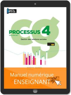 Processus 4 - Gestion des relations sociales BTS Comptabilité Gestion (CG)(2020) - Manuel numérique enseignant