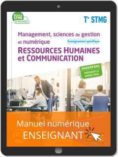 Management, sciences de gestion et numérique - Ressources Humaines et communication enseignement spécifique Tle STMG (2020) Pochette - Manuel numérique enseignant